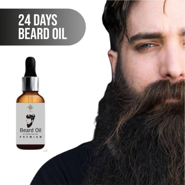 24 DAYS Beard Growth Oil for strong and healthy beard growth  Hair Oil