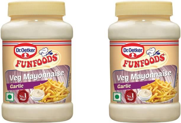 FUN FOODS Veg Mayonnaise Garlic 250 Gram Pack Of 2 500 g