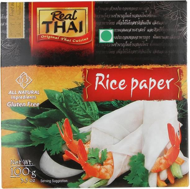 Real Thai Rice Paper Round (16 cm) Rice Noodles Vegetarian