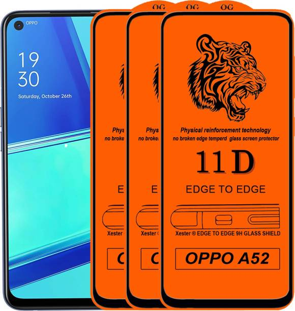 Rofix star Edge To Edge Tempered Glass for Oppo A52