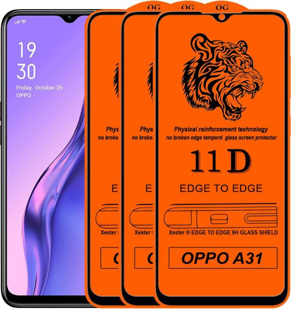 Rofix star Edge To Edge Tempered Glass for Oppo A31