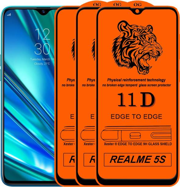 Rofix star Edge To Edge Tempered Glass for Realme 5s