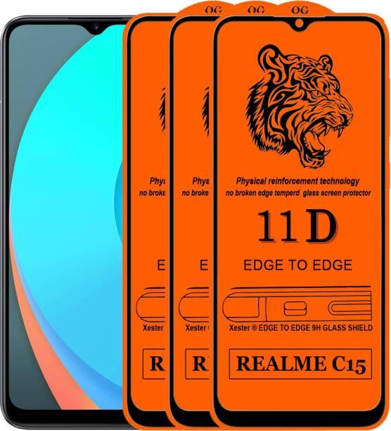 Xester Edge To Edge Tempered Glass for Realme C15