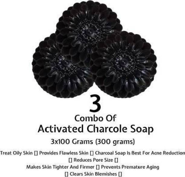 L&S activated charcoal soap pack of -3