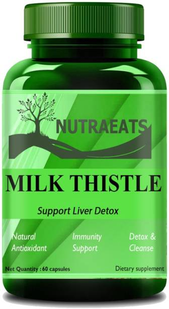 NutraEats Nutrition Milk thistle supplement for liver support and liver detox Premium