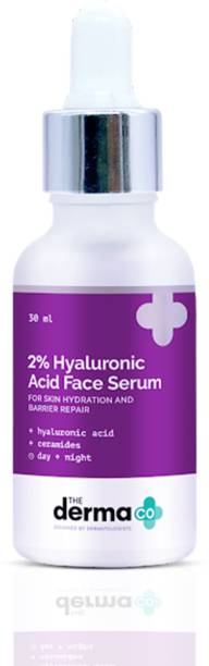 The Derma Co 2% Hyaluronic Acid Face Serum for Skin Hydration & Barrier Repair, With Hyaluronic Acid and Ceramides