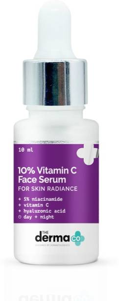 The Derma Co 10% Vitamin C Face Serum with Vitamin C, 5% Niacinamide & Hyaluronic Acid for Skin Radiance