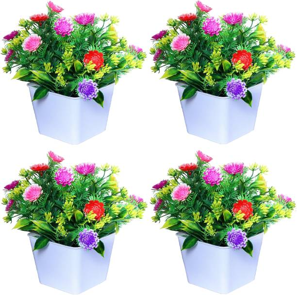 NERAPI Multicolor Wild Flowers Multicolor Wild Flower Artificial Flower  with Pot