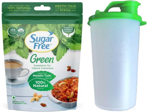 Sugar free SugarFree Green Made From Stevia with Shaker Sweetener