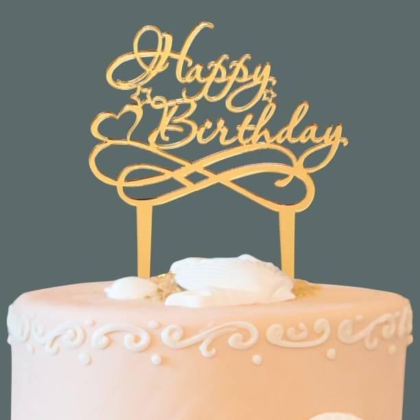 CSEL Cake topper Happy Birthday Party Cake decoration Cake Topper Baking Sparkles Cake Topper