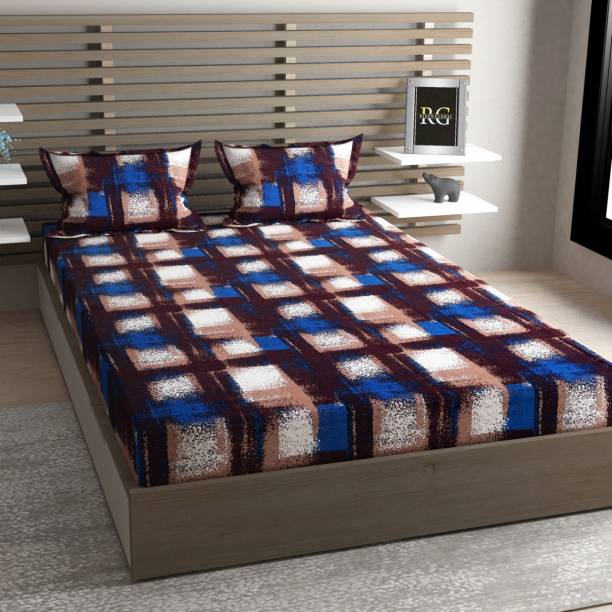 CRAFTWELL 220 TC Cotton Double King Abstract Bedsheet