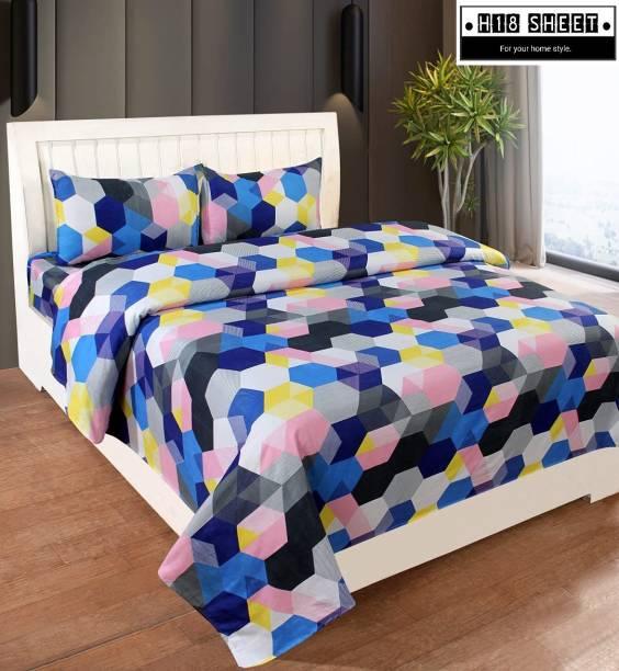 H18 SHEET 140 TC Cotton Double Geometric Bedsheet