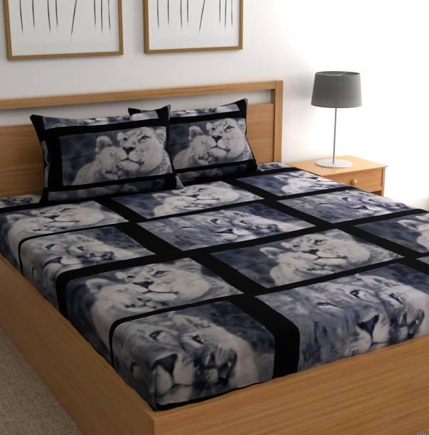 CHHAVI INDIA 104 TC Microfiber Double Cartoon Bedsheet