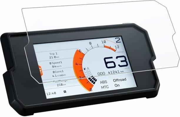 Action Pro 9H Nano Tempered Glass Screen Protector Compatible with KTM Duke 390 2017+, 390 Adventure 2020, Transparent Bike Crash Guard