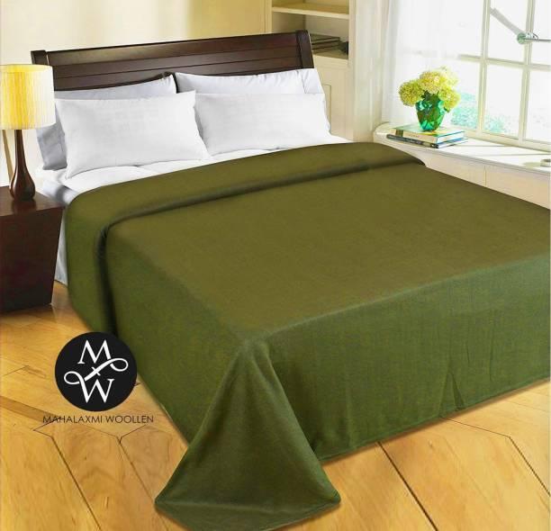 Mahalaxmi Woollen Solid Single Fleece Blanket