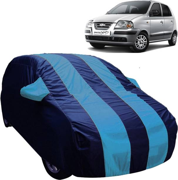 UK Blue Car Cover For Hyundai Santro Xing (With Mirror Pockets)