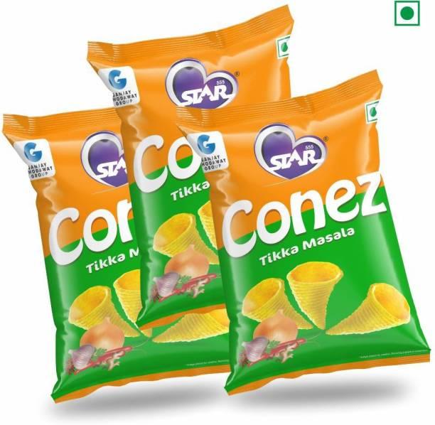 STAR 555 CONEZ Tikka Masala 100GM Each Pack of 3 Chips