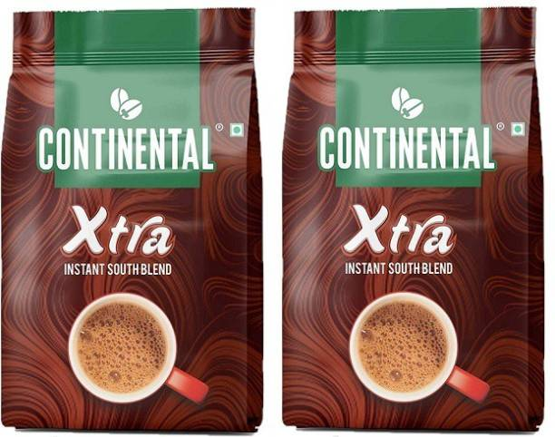 CONTINENTAL Coffee Xtra Instant Coffee Powder, Chicory Flavoured 2X 200gm Pouch ,(Pack of 2) Instant Coffee