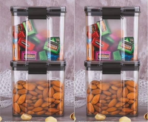 Tagon Unbreakable Verging Plastic Air Tight Tik Tok Lock Container / Kitchen Storage / Kitchen Container / Aachar & Pickle Container For Home & Kitchen Grocery Container set  - 700 ml Plastic Grocery Container