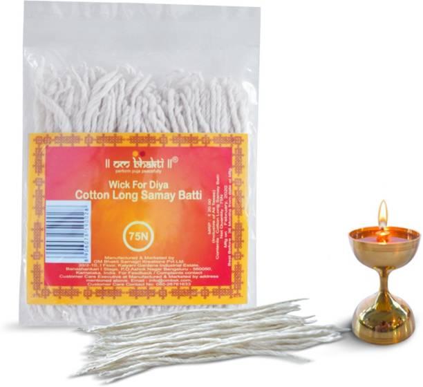 OM bhakti Cotton Long Samay Batti Cotton Wick
