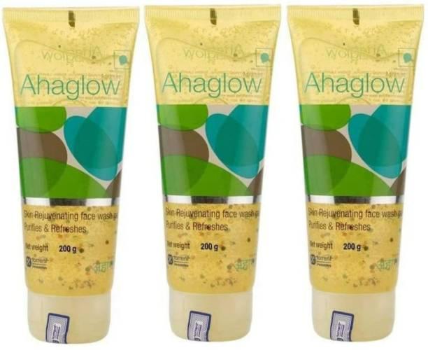 ahaglow -Torrent  600 gm ( 3x200 gm) 3 Pack of 200 gm each Face Wash