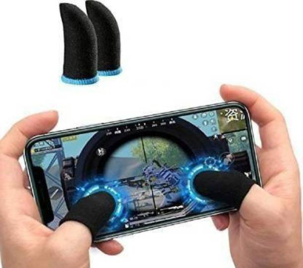 ArrayStyle Gaming Anti-Slip Thumb Sleeve, Increase Your Gaming Score Slip-Proof Sweat-Proof Professional Touch Screen Thumbs Finger Sleeve for Pubg ,Call of Duty,Free Fire Mobile Phone Gaming Gloves (01 Pair)  Gaming Accessory Kit