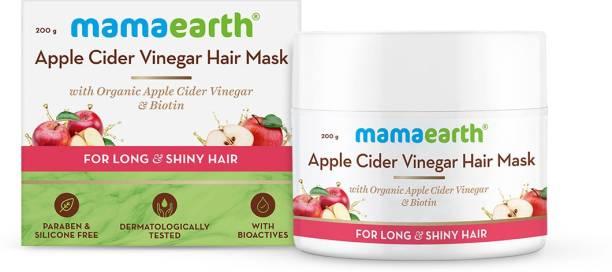 MamaEarth Apple Cider Vinegar Hair Mask with Organic Apple Cider Vinegar & Biotin for Hair Growth, Long & Shiny Hair