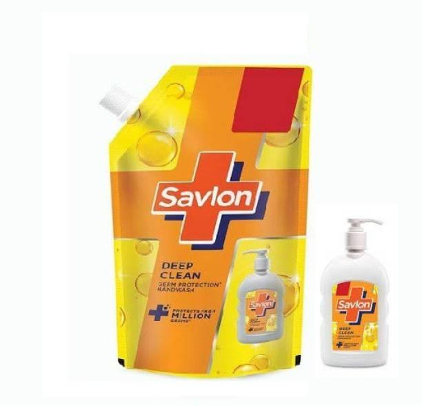Savlon deep clean germ protection hand wash 200ml pump 750ml refill Hand Wash Pump Dispenser