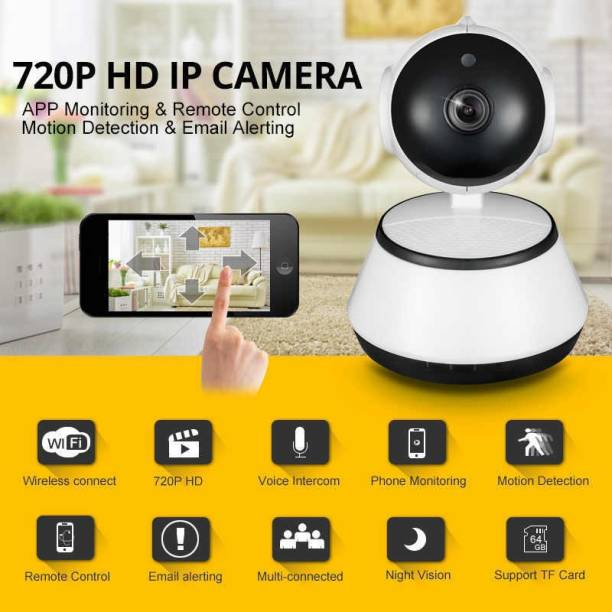 IBS IP CAM Mini Robot Wireless WIFI Network Security HD Remote Monitor 720P CCTV 360 DEGREE ROTATION TWO WAY AUDIO MOTION DETECTION ALARM NIGHT VISION Security Camera
