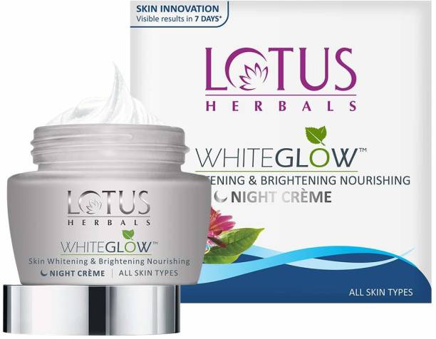 LOTUS HERBALS WhiteGlow Skin Whitening and Brightening Nourishing Night Cream