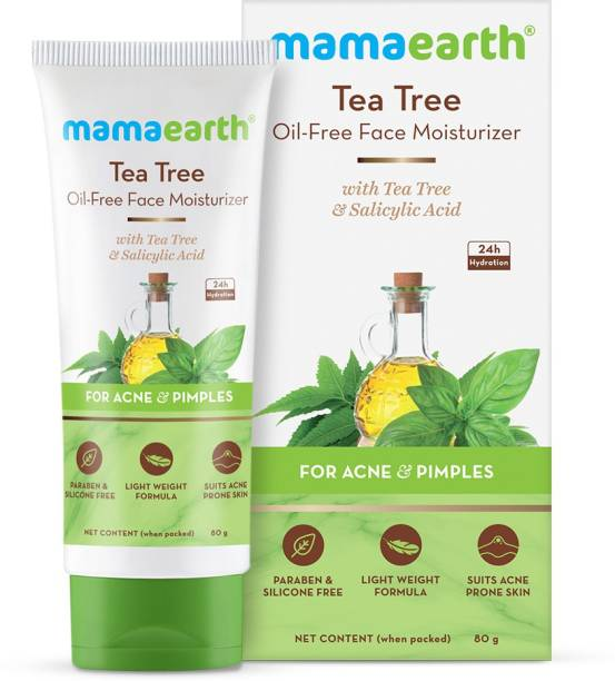 MamaEarth Tea Tree Oil-Free Moisturizer For Face For Oily Skin with Tea Tree & Salicylic Acid for Acne & Pimples