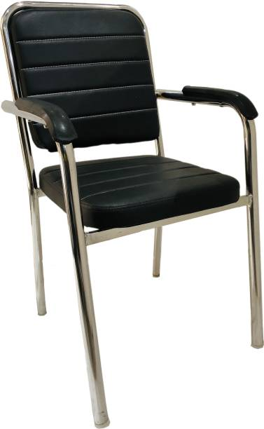 Tarun VISITOR CHAIR Leatherette Office Arm Chair