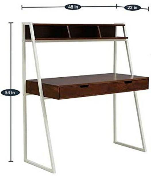 jfwoods Stanlio Solid Wood Study Table with Drawers in Metal Frame by Jfwoods Metal Study Table