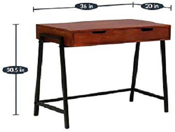 jfwoods Tony Solid Wood Study Table in Metal Frame by Jfwoods Metal Study Table