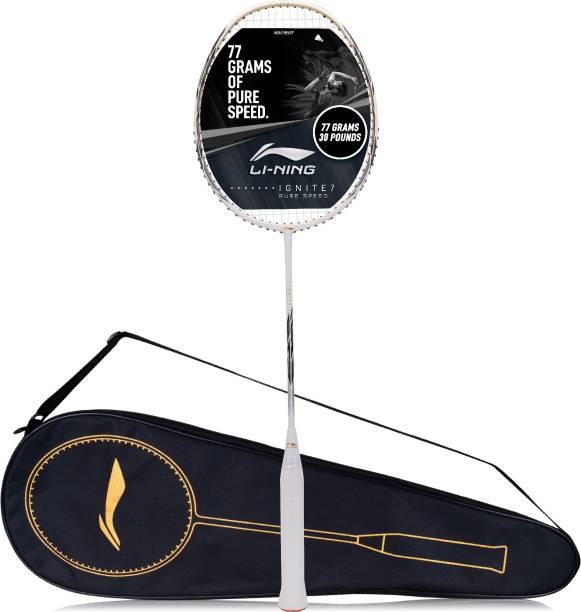 LI-NING Ignite 7 White, Black Strung Badminton Racquet