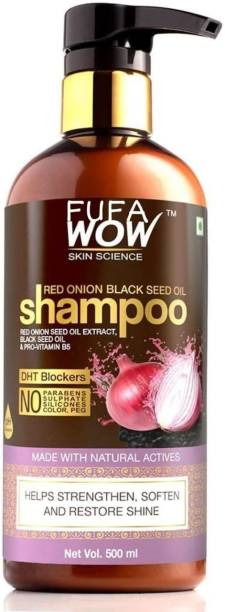 FUFA WOW SKIN SCIENCE Red Onion Black Seed Oil Shampoo with Red Onion Seed Oil Extract (500 ml)