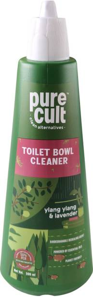 purecult Toilet Cleaner infused with Ylang Ylang & Lavender Essential Oils -Eco Friendly, Biodegradable - Kids & Pet Friendly Lavender Liquid Toilet Cleaner