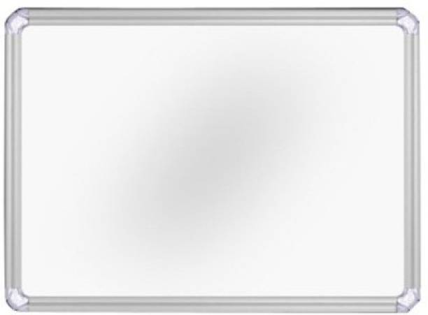 Jagdish Traders Interactive Melamine 1.5X2 Ft Non-Magnetic Kunj Whiteboard | Green Chalk Board Surface On Back Side | Sliding Hanging Clips with Robust Aluminium Frame Finishing Whiteboards
