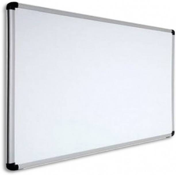 GNE Non Magnetic Melamine Whiteboard 2X2 ft one Side White Marker and Reverse Side Chalk Board Surface Whiteboards
