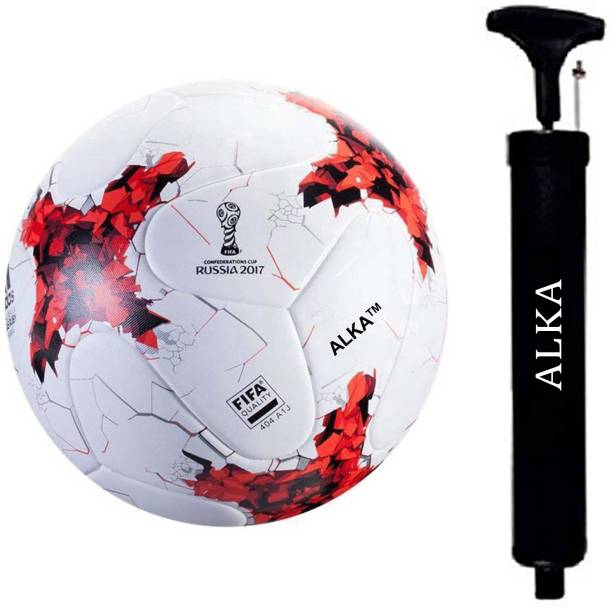 ALKA RUSSIA RED HAND STITCHED FOOTBALL WITH PUMP Football Kit