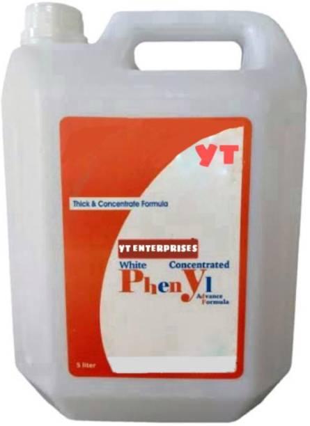 YT ENTERPRISES 5 liters white phenyl with one pocah absolutely free jasmine fragrance jasmine