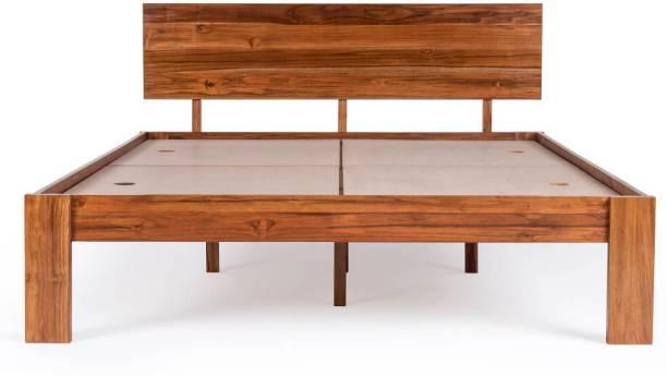 Wakefit Indus Teak Solid Wood Queen Bed