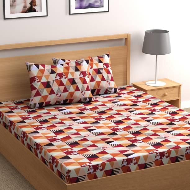 Flipkart SmartBuy 160 TC Microfiber Double Geometric Bedsheet