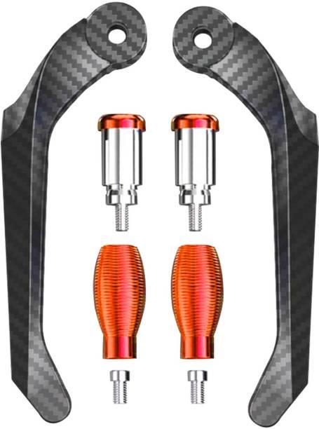 "Otoroys Bike Lever Protector Guard 7/8"" 22mm Brake & Clutch Levers Protector Guard Carbon Finish Handlebar Hand Guard"