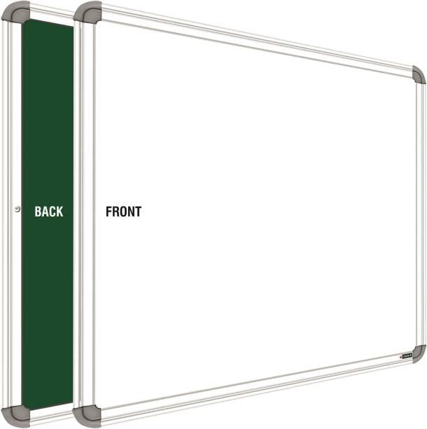 SRIRATNA 2x3 Feet Glossy Whiteboard, One Side White Board Marker and Reverse Side Green Chalk Board Surface Whiteboards White, Green board