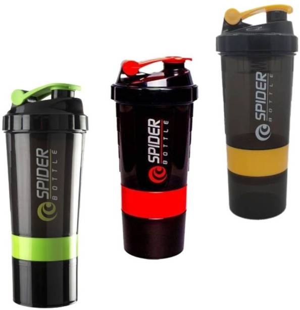 TRUE INDIAN Special Combo Pack of 3 Gym Shaker/Shaker Bottle/Gym Water Bottle|Sport Gym Shaker 500 ml Shaker
