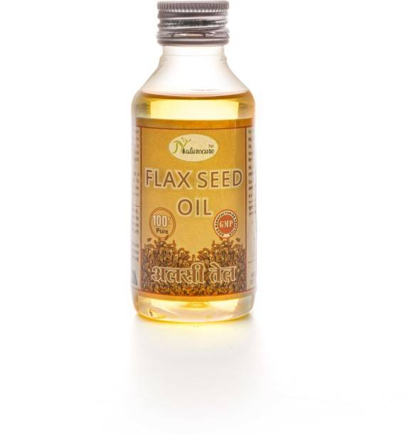 Naturocure flax seed oil pure for hair & skin alsi seeds weight loss growth ayurvedic massage-50ml. pack of 1