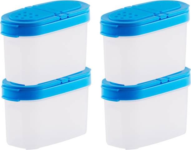 POLYSET Tic-Tac Plastic Sprinkler, 130ml+130ml+130ml+130ml, Set of 4  - 520 ml Plastic Utility Container