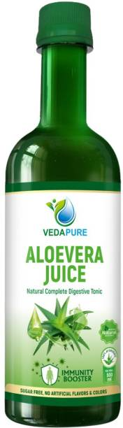 Vedapure Aloe Vera Juice for Immunity and Digestion I 100% Natural, No Added Sugar | for Skin, Hair and Immunity