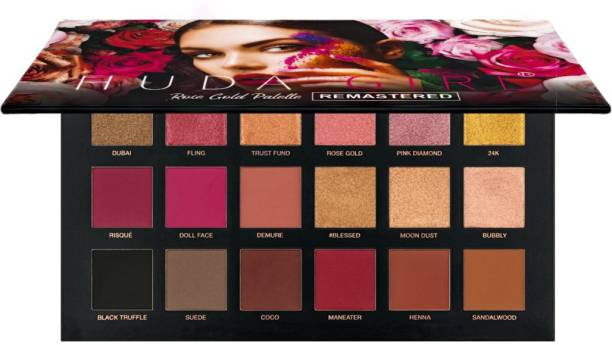 Huda Girl ROSE GOLD REMASTERED Edition Eyeshadow Palette 18 Color Shimmer and Matte Eyeshadow Palette 10 g